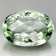 natural green amethyst oval