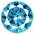 Cubic Zirconia Blue Topaz Gems