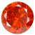 Cubic Zirconia Orange Gems