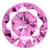 Cubic Zirconia Pink Rose Gems