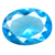 Glass Blue Topaz Gems