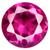 Synthetic Rose Red Gems