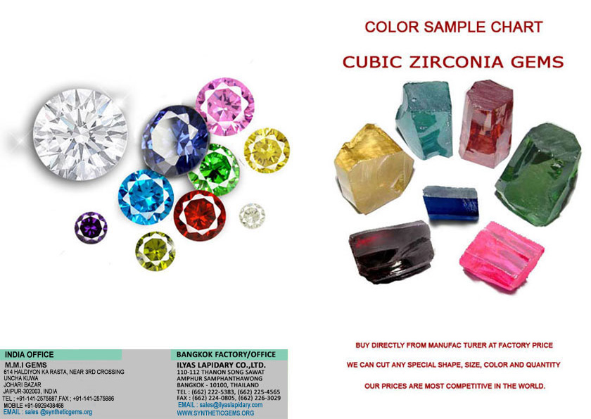 Front Cover Cubic Zirconia