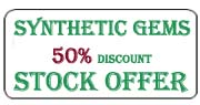 Synthetic gemstone stock Offer
